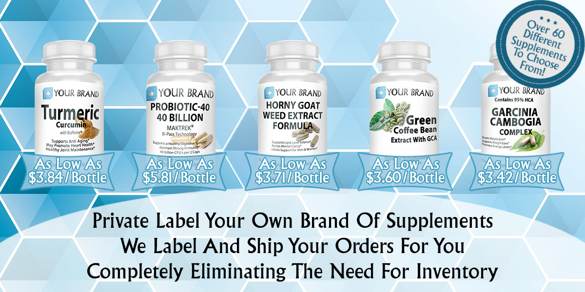 Build Your own brand of supplements through private label and On Demand Fulfillment
