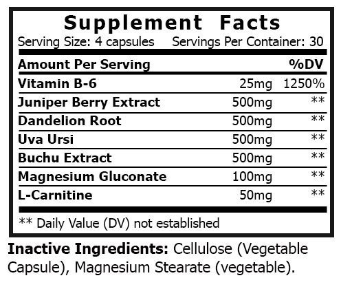 private label water off vitamin supplement nutrition panel