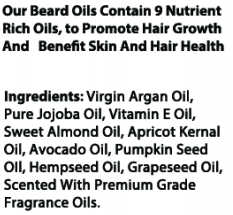private label beard oil nutrition panel