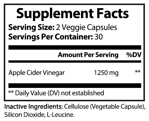 private label apple cider vinegar vitamin supplement