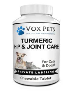 Private Label Pet Turmeric Hip and Joint Care Supplement