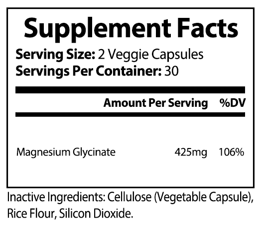 private label magnesium glycinate vitamin supplement