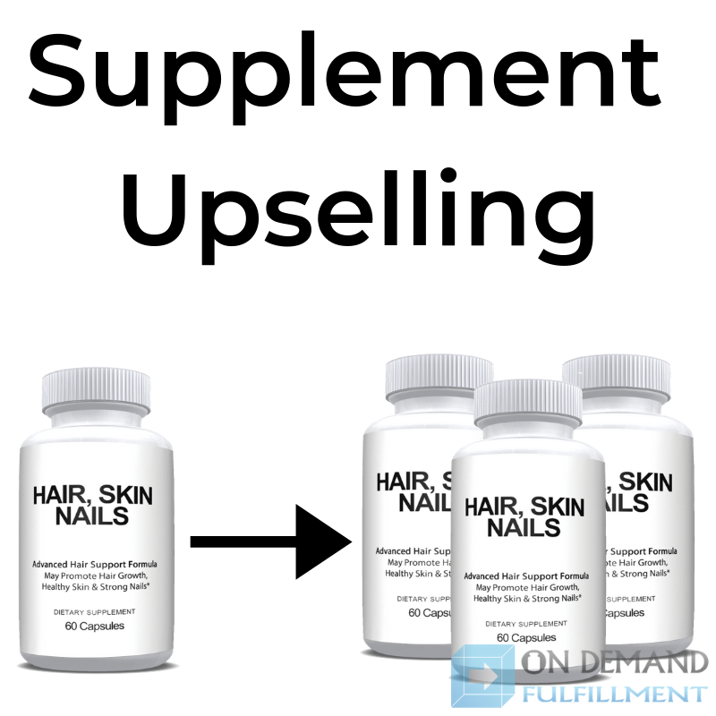 Health supplement upselling infographic