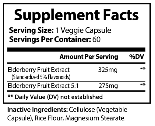 private label elderberry vitamin supplement