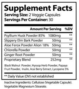 private label psyllium Husk vitamin supplement