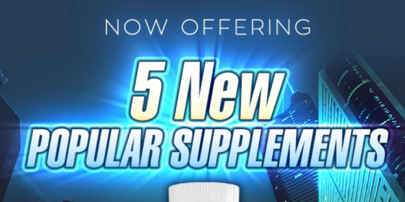 Now offering 5 new popular private label supplements