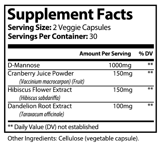private label d mannose vitamin supplement
