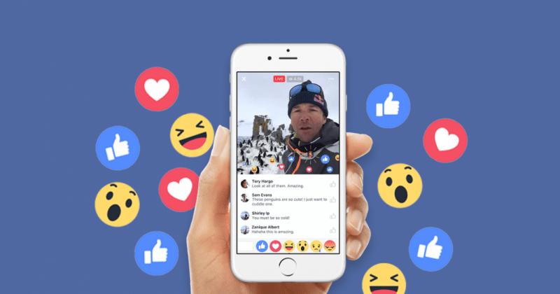Facebook live content