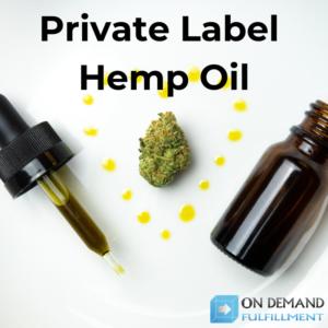 private label hemp oil dropper bottle