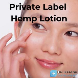 private label hemp lotion