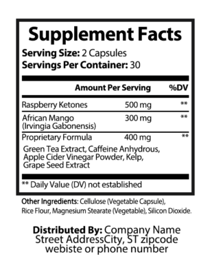private label keto ultra nutrition panel weight loss supplement