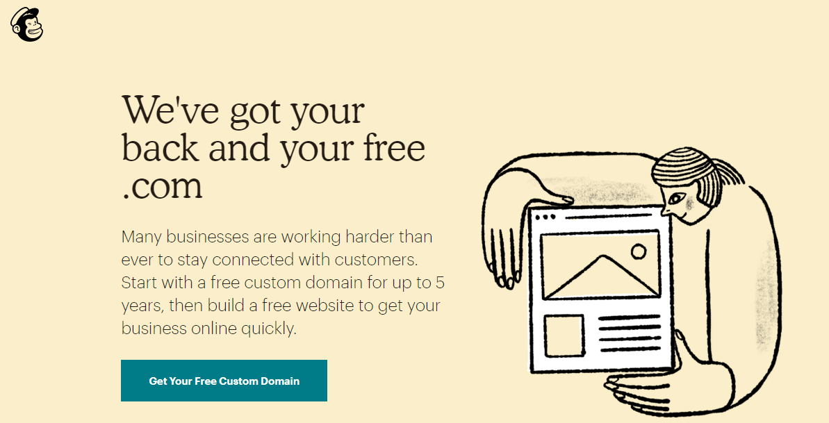 mailchimp home page screen shot