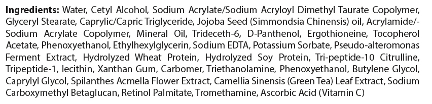 private label aftershave lotion cream ingredient list
