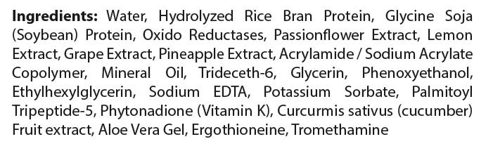private label eye treatment cream ingredient list