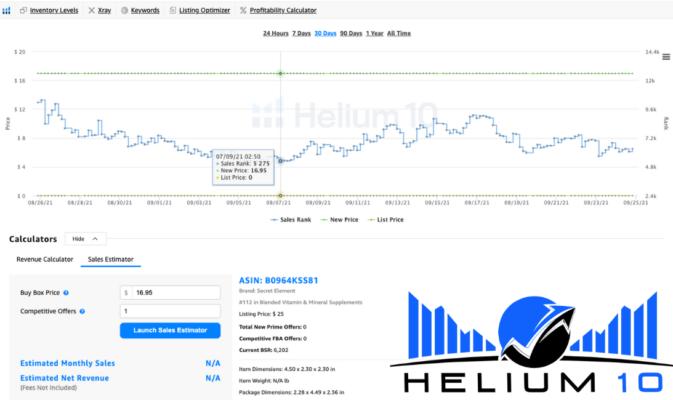 Helium 10 analysis tool for amazon